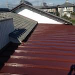 屋根の塗装後