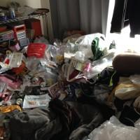 団地の大量ゴミ掃除片付け前2