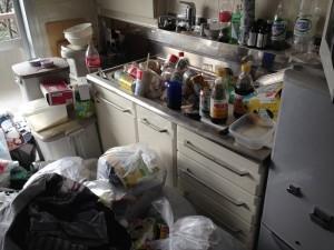 台所の大量ゴミ片付け前3