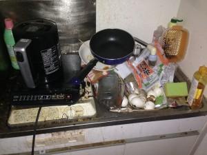アパートのキッチン清掃前