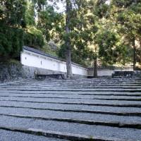 岐阜城の石の階段