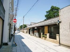 愛知県犬山市の町並みと円明寺