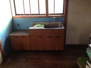 借家の台所の片付け後