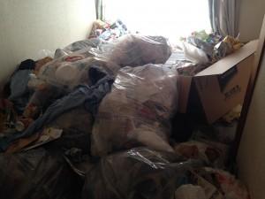 アパートの大量ゴミ掃除前3
