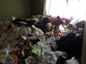 アパートの大量ゴミ掃除前2