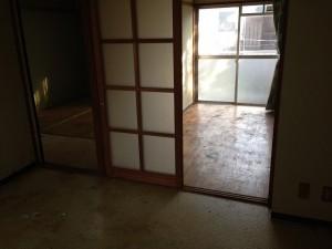 アパートの大量ゴミ掃除後1