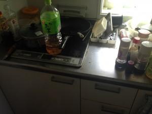 キッチン掃除前2