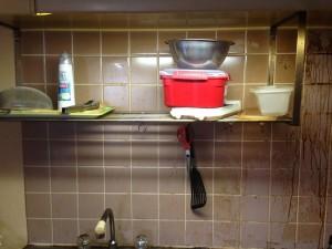 キッチン清掃前1